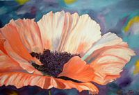 large flower painting by Karin Voets